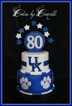 University of Kentucky UK Birthday cake
