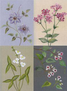 FLEURS sauvages de plantes broderie n2 japonais Craft par PinkNelie