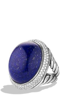 Oval Ring with Lapis Lazuli and Diamonds. This will be my engagement ring.