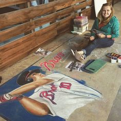 @jessiqueenart getting it done at @poncecitymarket #bravespcm #gachalkartists #jessiqueenart by zaulus