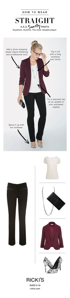 How to wear Ricki's Straight pants #rickis #loverickis #rickisfashion #fall…