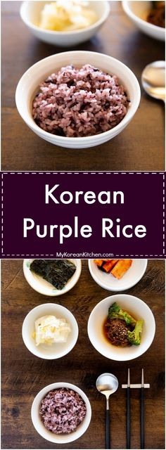 Learn how to make Korean purple rice in three different ways! I will show you how using a rice cooker, instant pot and dutch oven. It's so easy! Rice Recipes, Indian Food Recipes, Asian Recipes, Cooking Recipes, Healthy Recipes, Canadian Recipes, Vietnamese Recipes, Healthy Nutrition, Healthy Food