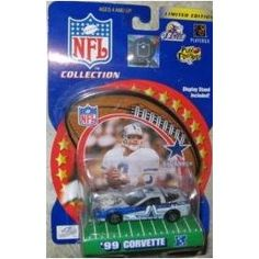 Dallas Cowboys Troy Aikman 2000 Winner's Circle NFL Diecast Corvette with Troy Aikman Display Stand by Hasbro   $29.79