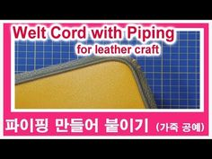 (Play Leather) - YouTube Leather Working, Leather Craft, Lunch Box, Make It Yourself, Play, Crafts, Leather Crafts, Manualidades, Handmade Crafts