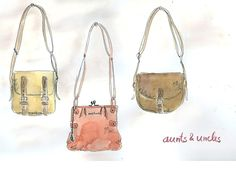 """water colour handbags from """"aunts & uncles"""" by Daniela Kopeinig"""