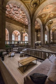 Historic Montreal Landmark Repurposed as Breathtaking Café - Eater Montrealclockmenumore-arrow : Photos by Randall Brodeur Voyage Montreal, Montreal Travel, Old Montreal, Montreal Ville, Montreal Quebec, Quebec City, Montreal Vacation, O Canada, Alberta Canada