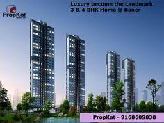 Luxury become the Landmark 3 & 4 BHK Home @ BANER #PropKat - 9168609838 #BANER #PUNE #3BHK #2BHK #Home