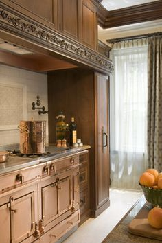 Traditional  Kitchen with Copper Appliances