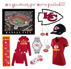 """My Heart Belongs To The Chiefs"" by brenaleigh ❤ liked on Polyvore"