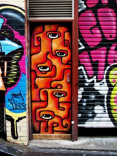 Love the street art in Melbourne...Caledonian Lane, Melbourne Australia  geoftheref on flickr
