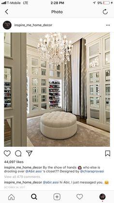 14 Must-Have Walk-In Closet Design Features Built In Wardrobe Designs, Walk In Closet Design, Closet Designs, Luxury Wardrobe, Luxury Closet, Closet Layout, Inspire Me Home Decor, Closet Bedroom, Master Closet