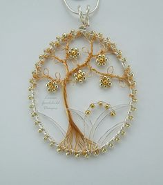 Hey, I found this really awesome Etsy listing at https://www.etsy.com/listing/287858045/silver-and-gold-tree-pendant-tree-of