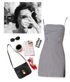 """Everything looks a little better after a ship of coffee"" by thepassingsideshow ❤ liked on Polyvore featuring Yves Saint Laurent and Paul Andrew"