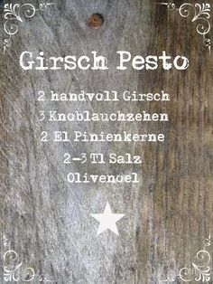 Ideas and Inspirations: Pestorezept mit Wildkräutern * recipe with wild herbs
