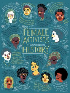 Female Activists Throughout History by Rachel Ignotofsky #illustration