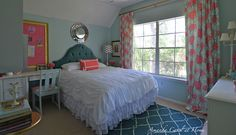 Such a pretty, happy room for girls young and not-as-young! This is a room all girls would love!