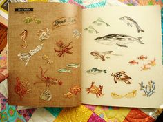 Japanese Embroidery sea creatures