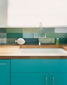 See more images from kitchens with colors on domino.com