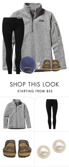 """""""•stay with me•"""" by southernprep3 ❤ liked on Polyvore featuring Patagonia, NIKE, Birkenstock and Honora"""