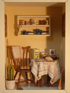 Old Hoboken Kitchen: Dollhouse Roombox by Jack English, via Flickr