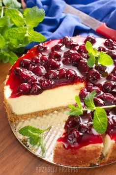 Pudding, Cheesecake, Cooking, Cakes, Food, Diet, Cherries, Kitchen, Cake Makers