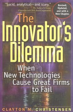 The Innovator's Dilemma: When New Technologies Cause Great Firms to Fail by Clayton M. Christensen http://www.amazon.com/dp/0875845851/ref=cm_sw_r_pi_dp_2qbcub0ER5PW5