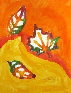 Salt and Watercolor Fall Leaves Salt Watercolor, Watercolor Leaves, Autumn Art, Autumn Leaves, Salt Painting, Leaf Art, Art Activities, Elementary Art, Art Blog