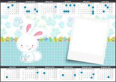 Uau! Veja o que temos para Convite Calendário 2015 Páscoa Coelhinho Cute Azul