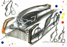 "The design by Mr. Maeda had won the Car Styling Award from the 2nd Ultimate Car Design Battle! The theme was to design ""A Car Driven By Young People in 2050,"" and competitors created designs within a time limit of 30 min. You will see the event report on our website: http://cardesignacademy.com/magazine/cardesignbattle2016.html #sketch #automotive #automotivedesign #instadaily #carstagram #instacars #cars #cargram #drawing #carsketch #copic #instadesign #car #productdesign #transportation"