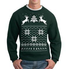 Snow Deer Sweatshirt Unisex Grn from Fab on shop.CatalogSpree.com, your personal digital mall.