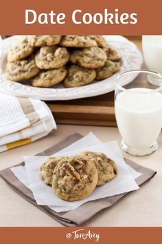 Date Cookies - Butter cookies with gooey dates and toasted pecans. Time-Tested Family Recipe from Kelly Jaggers that is a perfect dessert for Sukkot or a special treat! #dates #cookies #roshhashanah #pecans #autumnrecipe
