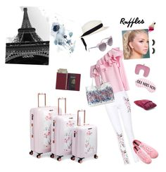 DC to Charles de Gualle en ruffles by lilygracestflowers on Polyvore featuring polyvore, fashion, style, Chicwish, Novesta, Ted Baker, Elliott Lucca, Royce Leather, Dsquared2, Federica Moretti, Vera Bradley, Flight 001 and clothing