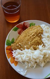 sundaymorning: Filetti di platessa impanati al curry senza olio e senza uova /super healty fish with curry