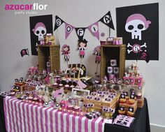 AZUCAR FLOR party studio Pirate Boy, Pirate Fairy, Pirate Birthday Cake, Birthday Cake Girls, Birthday Party Decorations, Party Themes, Birthday Parties, Girls Pirate Parties, Girl Pirates