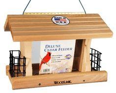 Woodlink Deluxe Cedar Bird Feeder with Suet Cages Model AT4 Woodlink http://www.amazon.com/dp/B000Y1BTUA/ref=cm_sw_r_pi_dp_RhJZwb069SA38