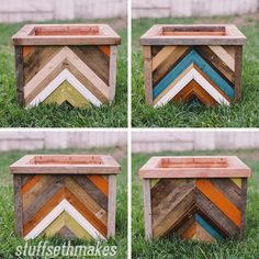 A few years ago I had some scrap wood laying around and wanted to upcycle and build something with it. This was also around the time when the chevron pattern was getting popular and starting to pi…