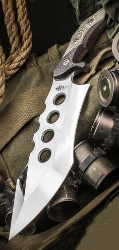 Marfione Custom Juggernaut Fixed Blade Knife Green Micarta