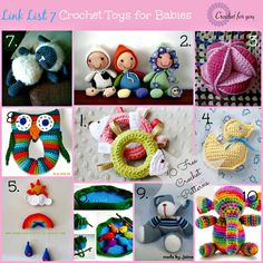 Link List 7 - 10 Free Crochet Toys for Babies - Crochet for you