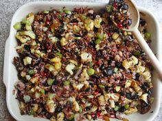 wild rice & pomegranate stuffing #recipe #lowsodium
