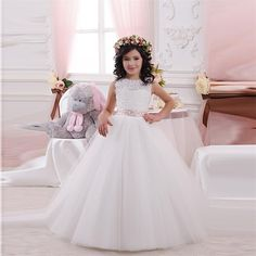 Cheap dress shirt collar styles, Buy Quality dresse directly from China dress girl baby Suppliers:    Cute 2016 Lace Flower Girl Dresses With Long Sleeve Princess Style Cheap With China Sashes China First Communion Dres