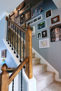 Best Stair Makeover – Replacing Wood Balusters With Wrought Iron Balusters Stair Makeover Wood 400 x 300