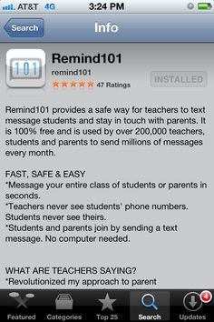 Nordhof's Kindergarten: Remind 101 Parent Letter Texting service for parents. Send texts to remind parents of special days, events, etc. Teaching Schools, Teaching Technology, Educational Technology, Elementary Schools, Teacher Organization, Teacher Tools, Teacher Resources, Letter To Parents, Parents As Teachers