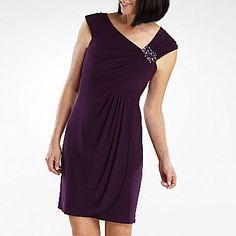 Jessica Howard Draped Sheath Dress with Pin