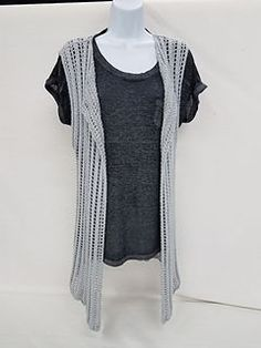 Ravelry: Long Knitted Lace Vest pattern by Anna Maria T