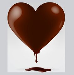 Dripping Chocolate Heart Vector Graphic - http://www.welovesolo.com/dripping-chocolate-heart-vector-graphic/