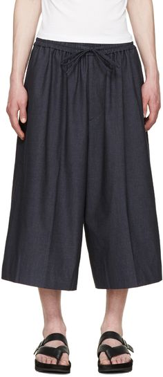 JUUN.J Navy Wide-Leg Trousers. #juun.j #cloth #trousers