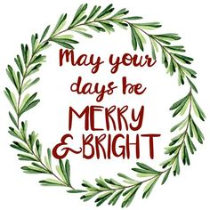 May your days be merry and bright // Good Life Printables - FREE Christmas printables