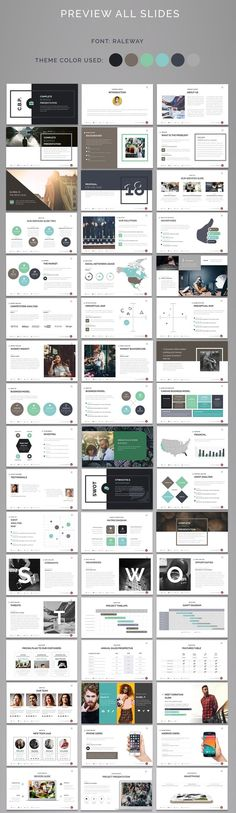 Complete Business Powerpoint Template was created with the idea of presenting projects, business ideas, case studies, advertising campaigns, consulting projects etc. Graphic Design Brochure, Ppt Design, Slide Design, Layout Design, Form Design, Design Ideas, Business Powerpoint Templates, Keynote Template, Powerpoint Tips