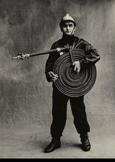 """Irving Penn, """"Pompier"""" (Fireman), Paris, 1950 © by Les Editions Condé Nast S.A."""