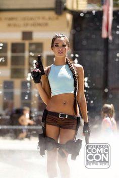 Joanie Brosas as Lara Croft -